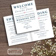 wedding itinerary for guests printable wedding welcome bag booklet note itinerary wedding