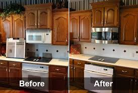 kitchen cabinet refacing before and after photos varnished brown kitchen cabinet refacing before and after with gas
