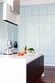 Aqua Floor Laminate Wall Cabinets Are Finished In A Highly Polished Laminate In Aqua