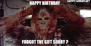 Star Wars Birthday Meme - best star wars funny happy birthday meme happy wishes