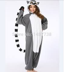 kigurumi new lemur monkey onesie unisex pajamas