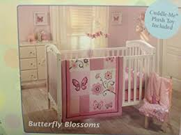 amazon com little bedding by nojo butterfly blossoms 4pc crib