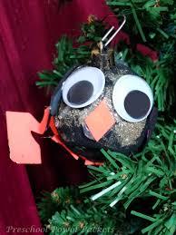 kid made penguin ornament preschool powol packets
