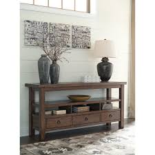 Stone Console Table Console Table With Faux Stone Table Top Insert By Signature Design