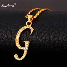 initial g letter pendants u0026 necklaces womenmen personalized gift