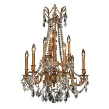 Crystal And Gold Chandelier Worldwide Lighting Windsor Collection 9 Light French Gold And