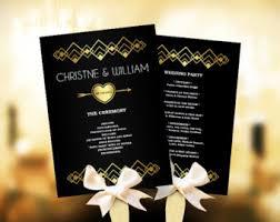 Fan Ceremony Programs Wedding Program Fan Etsy