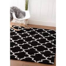 Polypropylene Area Rugs Shag Rug Shag Rug Black White High Quality Carpet