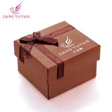 gift boxes with bow bow coffee square shaped paper gift box packing for wristwatches