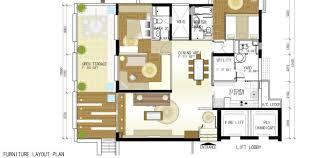 Amazing Minimalist Apartmen First Floor Plan Design With Bathroom - Apartment design plan