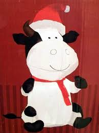 Blow Up Holiday Decorations 4 U0027 Airblown Inflatable Christmas Cow Holiday Decoration Amazon Co