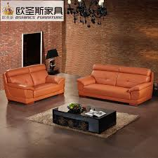 mexico living room or office orange color suede genuine thick