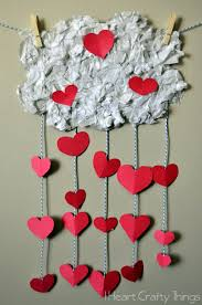 the day it rained hearts valentines craft for kids i heart