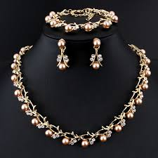 color pearl necklace images Jiayijiaduo classic imitation pearl necklace gold color jewelry jpg