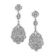 bridal chandelier earrings bridal chandelier earrings ebay