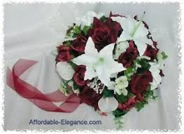 wedding flowers ebay burgundy white bridal bouquet calla lilies roses silk