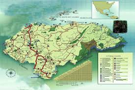 touristic map of honduras geographic touristic map upnfm