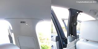How To Fix Car Upholstery Roof Headliner Removal And Overhead Light Replacement Mk5 Vw Jetta Vw