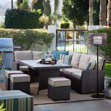 Rattan Patio Dining Set Belham Living Monticello All Weather Wicker Sofa Sectional Patio