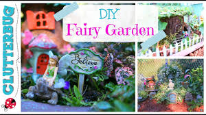 diy fairy garden ideas and tour youtube