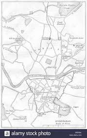Hyderabad India Map by British India Hyderabad Sketch Map City Plan Andhra Pradesh