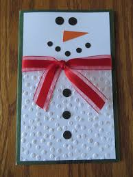 the perfect snowman card simple but incredibly cute