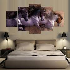 online get cheap horse posters aliexpress com alibaba group 5 piece animal canvas painting wall art picture horse movie posters prints artwork cuadros home decoration