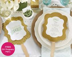 Wedding Program Hand Fans Personalized Gold Glitter Hand Fan Rustic Wedding Designs