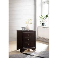 nightstand l with usb port acme blaise espresso wood 3 drawer usb port nightstand free