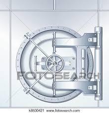 chambre forte clipart illustration de chambre forte banque porte k8530421