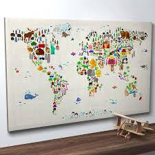 creative design world map art prints by artpause animal street