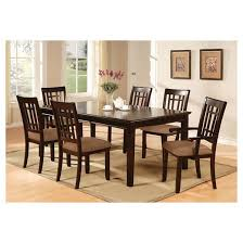 iohomes 7pc simple dining table set wood dark cherry target