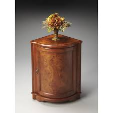 Drum Accent Table by Butler Corner Cabinet Table Olive Ash Burl Hayneedle