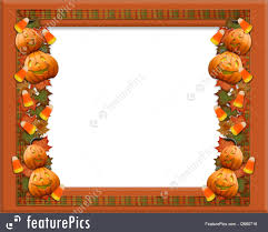 Free Halloween Border by Halloween Border Leaves And Pumpkins Illustration