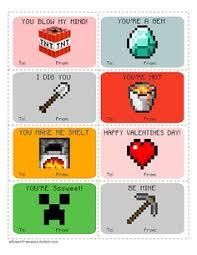 minecraft s day cards minecraft valentines for kids valentines day