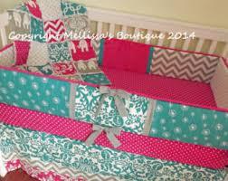 Boutique Crib Bedding Turquoise Crib Skirt Etsy