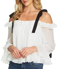 ruffled blouse cece s sleeve blouses dillards