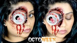 halloween makeup blood halloween sfx gory eye makeup tutorial octoween u2013 nishi v