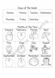 months of the year worksheets the year and math