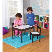 table for children s room 3 piece children s table and chairs espresso walmart com