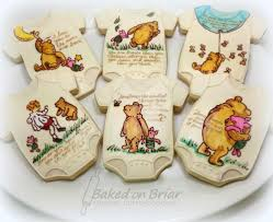 winnie the pooh baby shower favors painted winnie the pooh cookies winnie the pooh baby shower