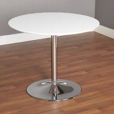 Modern Pedestal Table by Round Glass Dining Table Ebay