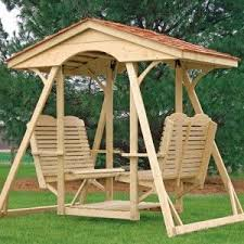 Wooden Garden Swing Seat Plans by