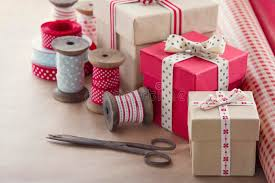 wrapping boxes gift boxes and wrapping paper rolls stock photo image of antique