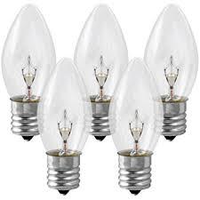 25 pack 7 watt c9 clear incandescent light bulb intermediate