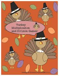free thanksgiving math multiplication and division facts