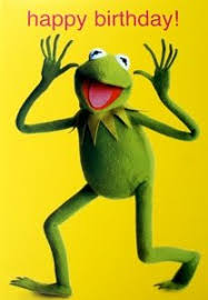 kermit the frog muppets happy birthday greetings card mu8 amazon