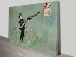 canvas prints australia wall art print and canvas prints online banksy child soldier banksy child soldiers wall art print