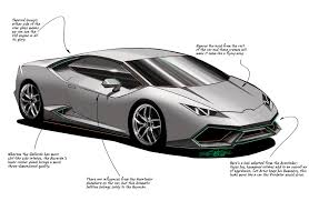 supercar drawing 2015 lamborghini huracan lp 610 4 behind the lines