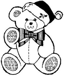 christmas teddy bear coloring pages designcorner